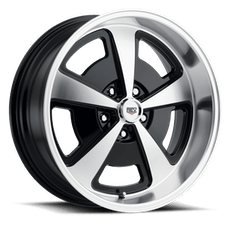 REV Wheels 109MB-8806500 - 109 Magnum 18X8 5X114.3 0MM Machined/Gloss Black Machined Aluminum Wheels 109 Classic Magnum Series REV Wheels