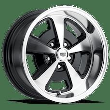 REV Wheels 109P-7806100 - 109 Magnum 17X8 5X120.65 0MM Poliished Black Gloss 28 Lbs Polished Aluminum Wheels 109 Classic Magnum Series REV Wheels