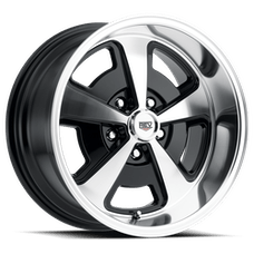 REV Wheels 109P-8806100 - 109 Magnum 18X8 5X120.65 0MM Poliished Black Gloss 31 Lbs Polished Aluminum Wheels 109 Classic Magnum Series REV Wheels