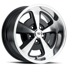 REV Wheels 109P-8906100 - 109 Magnum 18X9 5X120.65 0MM Poliished Black Gloss 33 Lbs Polished Aluminum Wheels 109 Classic Magnum Series REV Wheels