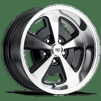 REV Wheels 109P-2956100 - 109 Magnum 20X9.5 5X120.65 0MM Poliished Black Gloss 40 Lbs Polished Aluminum Wheels 109 Classic Magnum Series REV Wheels