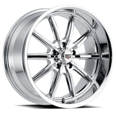 REV Wheels 110C-8906100 - 110 Classic Icon Series 18x9 5x120.65 00MM Chrome REV Wheel