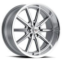 REV Wheels 110S-2806100 - 110 Classic Icon Series 20x8 5x120.65 0MM Anthracite Machined Face And Machined Lip REV Wheel