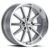 REV Wheels 110S-2807300 - 110 Classic Icon Series 20x8 5x127 0MM Anthracite Machined Face And Machined Lip REV Wheel