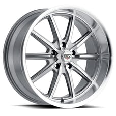 REV Wheels 110S-7706500 - 110 Classic Icon Series 17x7 5x114.3 0MM Anthracite Center And Machined Lip REV Wheel