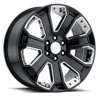 REV Wheels 588B-2298332 - OE Replica 588 Series 22x9 6x139.7 +32MM Gloss Black With Chrome Inserts REV Wheel