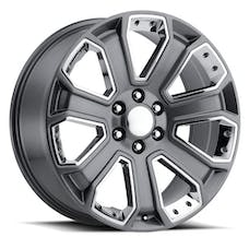 REV Wheels 588S-2298328 - OE Replica 588 Series 22x9 6x139.7 +28MM Gray With Chrome Inserts REV Wheel