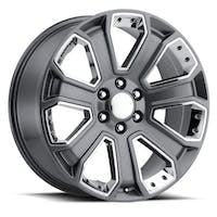 REV Wheels 588S-2298332 - OE Replica 588 Series 22x9 6x139.7 +32MM Gray With Chrome Inserts REV Wheel
