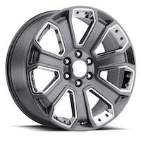 REV Wheels 588S-2858332 - OE Replica 588 Series 20x8.5 6x139.7 +32MM Gray With Chrome Inserts REV Wheel