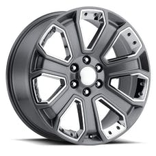 REV Wheels 588S-2858332 - OE Replica 588 Series 20x8.5 6x139.7 +32MM Gray With Chrome Inserts REV Wheel