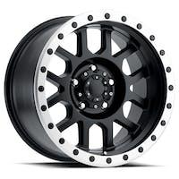 REV Wheels 883B-7908300 - REV Off Road 883 Series Beadlock 17x9 6x139.7 +00MM Matte Black REV Wheel