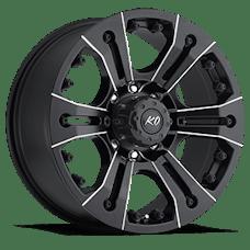 REV Wheels 835M-2908100 - KO 20X9 8X165.1 +0MM 47 Lbs Milled Aluminum Wheels 835 Americana Offroad KO Series REV Wheels