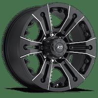 REV Wheels 835M-2908300 - KO 20X9 6X139.7 0MM Black Milled 47 Lbs Milled Aluminum Wheels 835 Americana Offroad KO Series REV Wheels