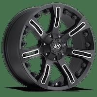 REV Wheels 840M-7903220 - 17X9 5X127/5X139.7 +20MM 32 Lbs Milled Black Aluminum Wheels 840 Offroad Series REV Wheels