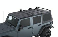 RHINO-RACK JA6390 - Vortex 3-Bar Backbone Roof Rack for 07-18 Jeep Wrangler Unlimited JK Hardtop - BLACK