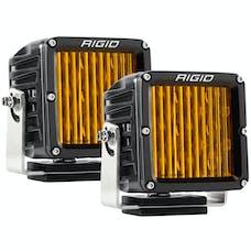 RIGID Industries 321514 D-XL Pro Dot/SAE J583 Fog Light Selective Yellow Surface Mount, Pair