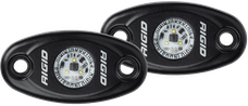 RIGID Industries 482023 A-Series LED Light, Black-Low Strength Natural White, Set 2