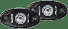 RIGID Industries 482033 A-Series LED Light, Black-Low Strength Cool White, Set 2
