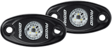 RIGID Industries 482043 A-Series LED Light, Black-Low Strength Red, Set 2