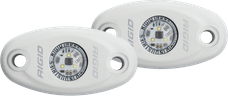RIGID Industries 482153 A-Series LED Light, White-Low Strength Cool White, Set 2