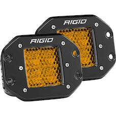 RIGID Industries 90152 D-Series Diffused Rear Facing High/Low FM Amber Set Of 2