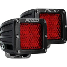 RIGID Industries 90153 D-Series Diffused Rear Facing High/Low SM Red Set Of 2
