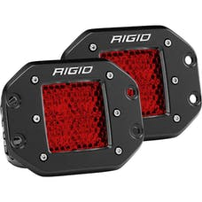 RIGID Industries 90154 D-Series Diffused Rear Facing High/Low FM Red Set Of 2