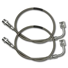 Rock Krawler RK02038 - JK Front Long Travel Stainless Brake Lines - 07-18 Wrangler JK/JKU