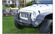 Rock Slide Engineering FB-F-103-JKA - RIGID FULL FRONT BUMPER / WITH BULLBAR / NO WINCH / ALUMINUM
