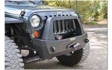 Rock Slide Engineering FB-S-103-JKA - RIGID SHORTY FRONT BUMPER / WITH BULLBAR / NO WINCH / ALUMINUM