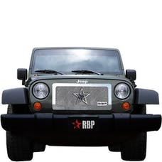 Rolling Big Power RBP-154482 Jeep Wranglers RL Series Smooth Frame Grille-Chrome-1-Piece