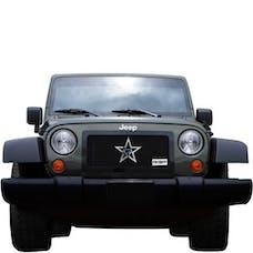 Rolling Big Power RBP-254483 Jeep Wrangler JK RL Series Smooth Frame Grille-Black-1-Piece
