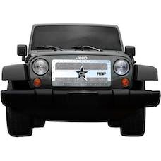 Rolling Big Power RBP-851483 Jeep Wrangler JK RX-3 Series Studded Frame Grille-Chrome-1-Piece