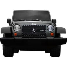 Rolling Big Power RBP-951482 Jeep Wranglers RX-3 Series Studded Frame Grille-Black-1-Piece