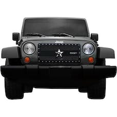 Rolling Big Power RBP-951483 Jeep Wranglers RX-3 Series Studded Frame Grille-Black-1-Piece