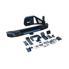 RT Off-Road RT20037 - HD Rear Bumper & Tire Carrier with 2in Receiver Hitch - Textured Black