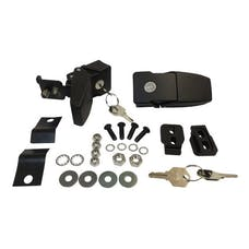 RT Offroad RT26057 Black Steel Locking Hood Catch Kit for 2007-2018 Jeep JK Wrangler; Set of 2