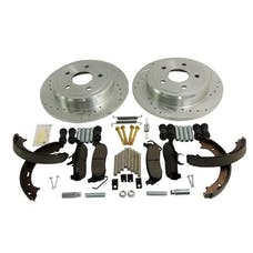 RT Offroad RT31009 Rear Performance Brake Kit for Jeep WK, XK, Drilled & Slotted Rotors & Hardware