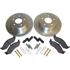 RT Offroad RT31012 Front Performance Brake Kit for Jeep TJ, XJ, Drilled & Slotted Rotors & Hardware