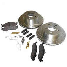RT Offroad RT31013 Front Performance Brake Kit for TJ, YJ, XJ, MJ, ZJ, ZG, Drilled & Slotted Rotors
