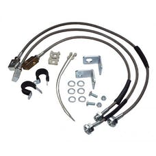 """RT Offroad RT31015 Stainless Steel Brake Hose Kit for Jeep TJ, YJ, XJ, ZJ, ZG w/ Up to 6"""" Lift"""