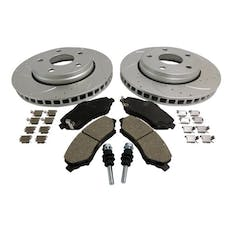 """RT Offroad RT31027 Front Performance Disc Brake Service Kit for Jeep JK Wrangler w/ 11.89"""" Rotor"""
