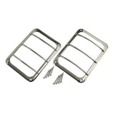 RT Offroad RT34081 Stainless Steel Tail Light Guard Set for 07-18 Jeep JK Wrangler; Incl. Hardware