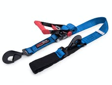 SpeedStrap 27002 - 2 Inch x 8 Foot Rachet Tie Down w/ Twisted Snap Hooks and Axle Strap Combo Blue