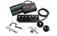 sPOD 600-0915LT-LED-B - JK Switch Panel 6 Switch Dual 09-17 Wrangler JK Blue