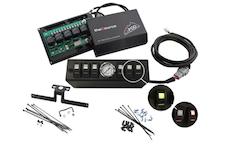 sPOD 610-0915LT-LED-G - JK Switch Panel 6 Switch W/Air Gauge 09-17 Wrangler JK Green