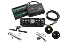 sPOD 610-0915LT-LED-R - JK Switch Panel 6 Switch W/Air Gauge 09-17 Wrangler JK Red