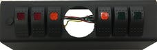 sPOD 620-07 - JK Switch Panel 6 Switch W/2-1/16 Inch Diameter Empty Gauge Hole 07-08 Wrangler JK Multi Color