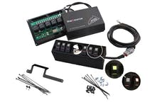 sPOD 620-0915LT-LED-G - JK Switch Panel 6 Switch W/2-1/16 Inch Diameter Empty Gauge Hole 09-17 Wrangler JK Green