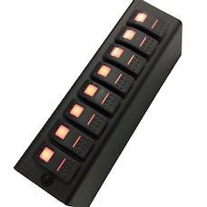 sPOD 8-600-SP-07-B - JK Add On Switch Panel For 8 Circuit SE System 07-08 Wrangler JK Blue